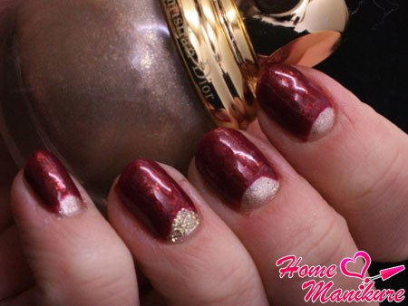 moon nail art colors in wine