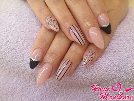 модные нарощенные гелем ногти