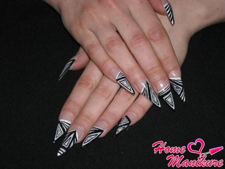 роскошные акриловые ногти для деловой леди