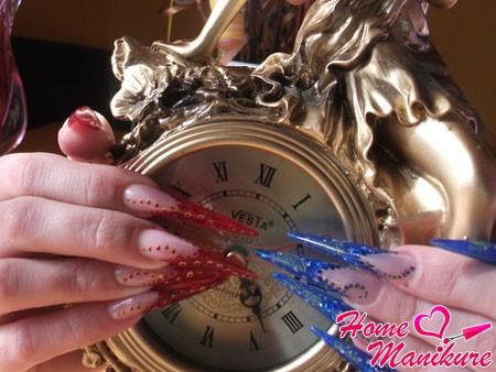 шикарные гелевые ногти стилеты