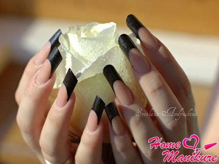 стильные черные ногти Пайп для деловой женщины