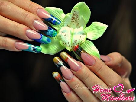 великолепный нейл-арт на ногтях Пайп