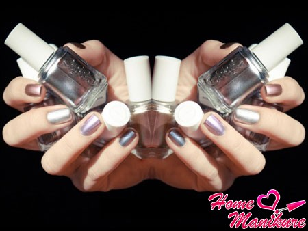 Магические блики на зеркальных ногтях