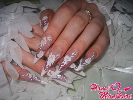 акриловая лепка на ногтях стилетах