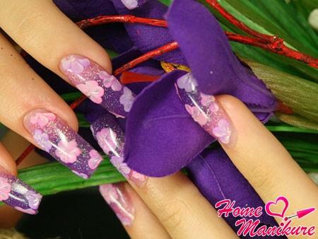 аквариумный дизайн в наращивании ногтей