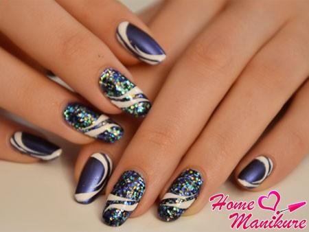white swirls on nails through liner