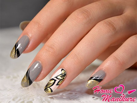 graceful figures painted on nails