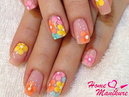 красивые цветочные рисунки на ногтях