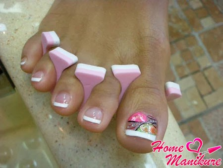 Покрытие гелем своих ногтей на ногах 69