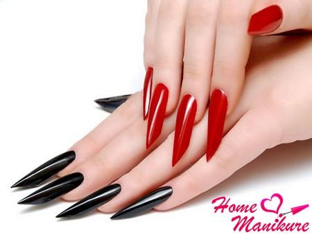 роскошная форма нарощенных ногтей бриджит