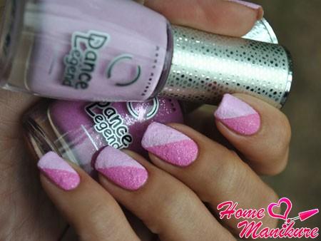 дизайн ногтей песочными лаками Dance Legend