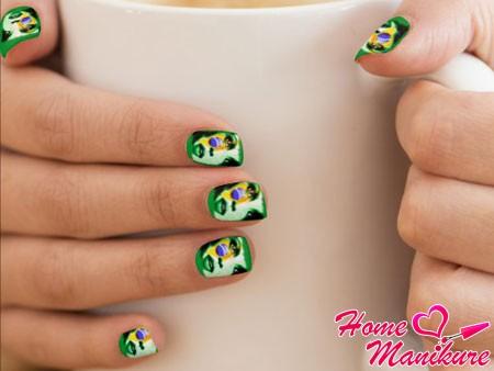 классные наклейки для ногтей с бразильским дизайном