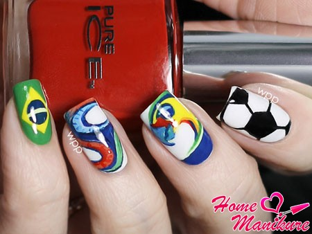 красивые футбольные рисунки на ногтях