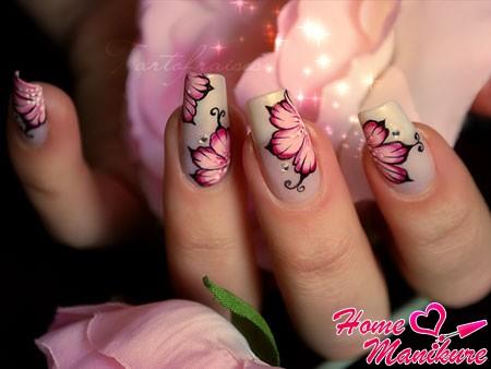 цветочный дизайн китайской росписи ногтей