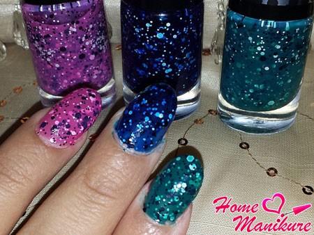 глиттерный лак для ногтей Maybelline Colorama