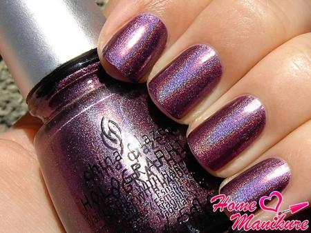 голографический лак для ногтей China Glaze