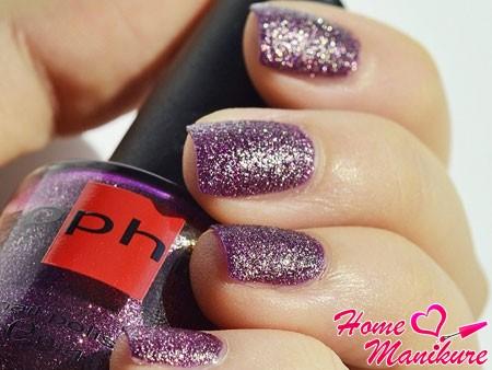 искрящийся песок Sophin на ногтях