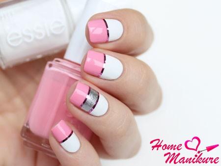 модный дизайн ногтей лаками Essie
