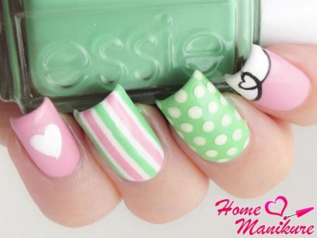 нежный дизайн ногтей лаками Essie