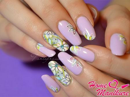 великолепная роспись ногтей акварелью