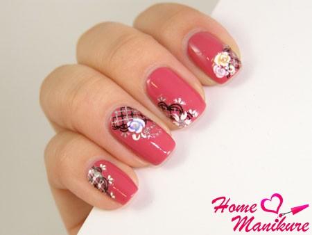 цветочные наклейки для ногтей