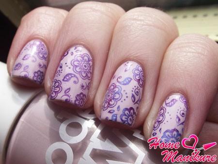 классные рисунки на ногтях стемпингом