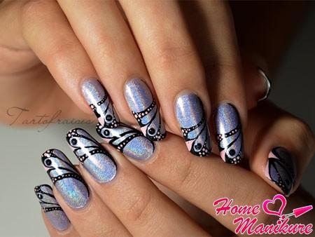 красивые рисунки бабочек на ногтях