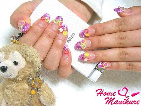 специальный фимо декор ногтей