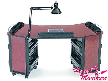 маникюрный стол с удобной лампой