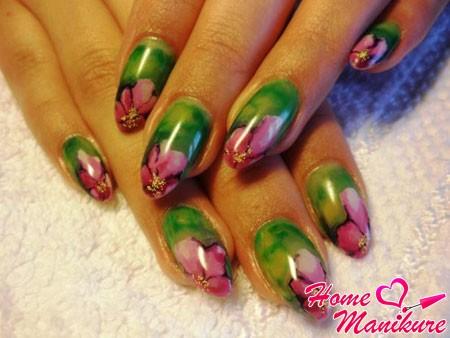 красивая китайская роспись на ногтях