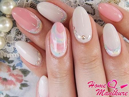 красивый и нежный дизайн гелевых ногтей