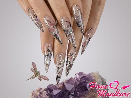 новинка в аквариумном дизайне нарощенных ногтей