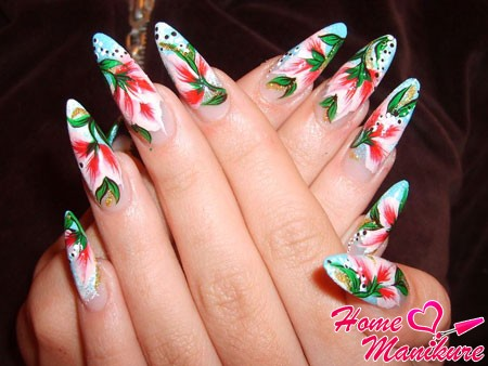 шикарная китайская роспись на ногтях
