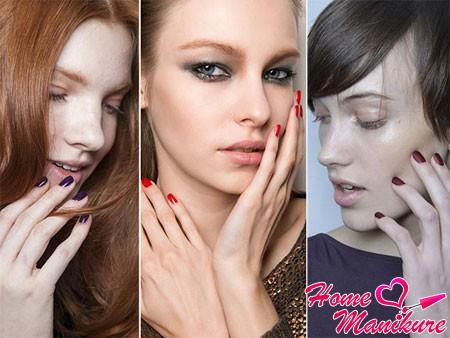 сочные оттенки вина на ногтях моделей