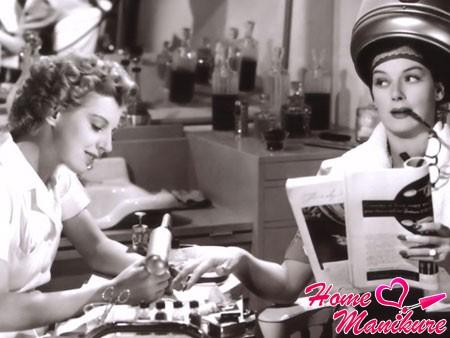 маникюр в салоне красоты середины 20 века
