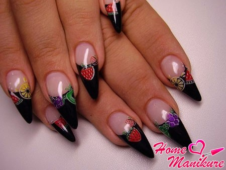 Konad Nail Art на нарощенных ногтях