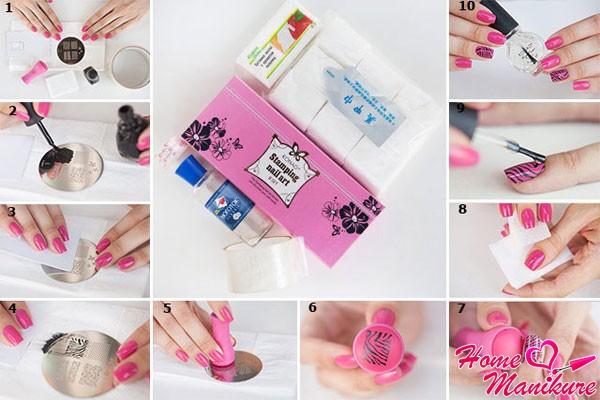 пошаговая инструкция Konad Stamping Nail Art