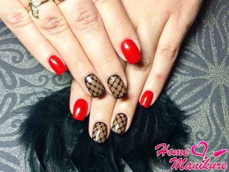дизайн ногтей в стиле колготок
