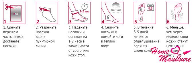 инструкция к педикюрным носочкам Sosu
