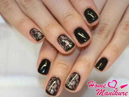 классический дизайн ногтей в стиле вуали