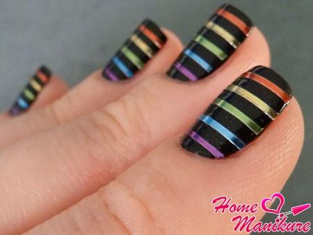 классные неоновые ленты для дизайна ногтей