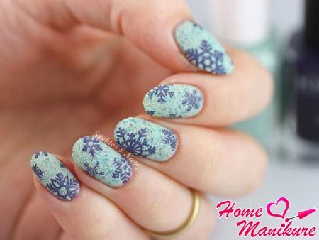 потрясающий зимний дизайн ногтей moyou
