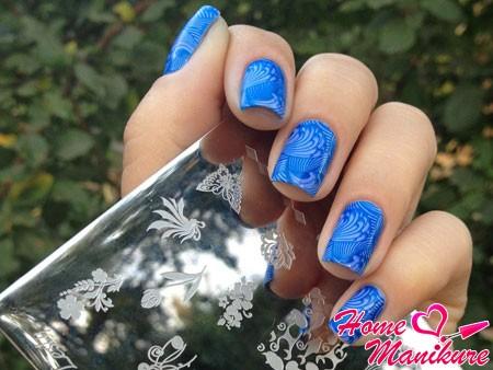 стемпинг для ногтей lesly