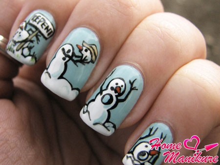 зимний дизайн ногтей для молодежи