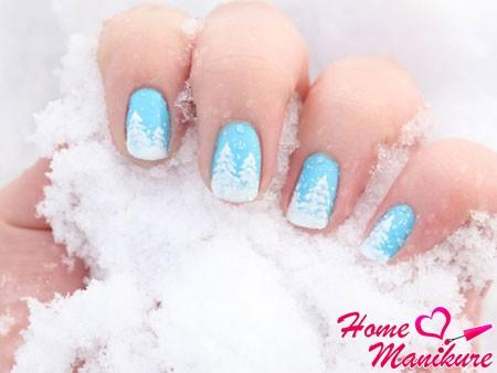 Зимний маникюр: фото дизайна ногтей на зиму