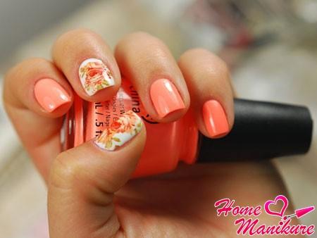 нейл-арт с цветами