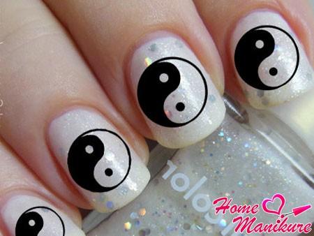 наклейки для ногтей Инь-Янь