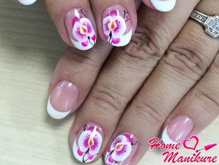 Дизайн ногтей орхидеи