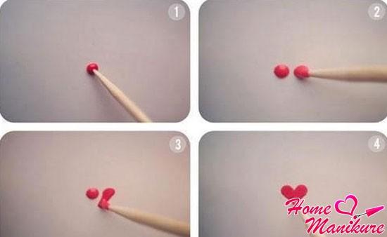 пошаговая инструкция рисунка сердечка