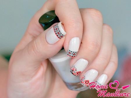 русский дизайн ногтей